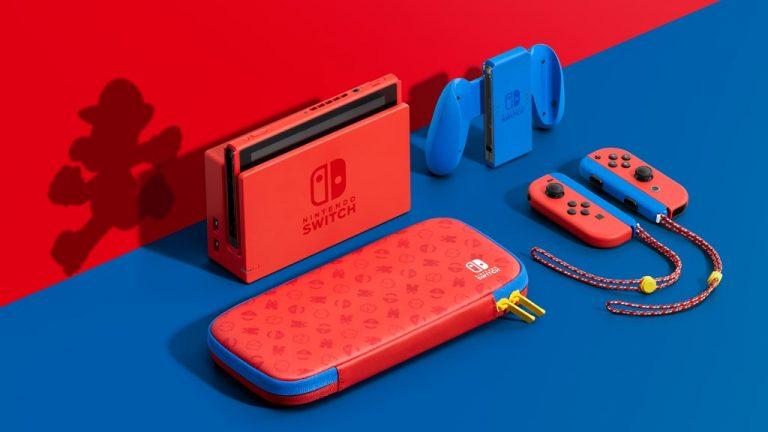 Nintendo Switch Mario Red & Blue Edition será lançado em fevereiro