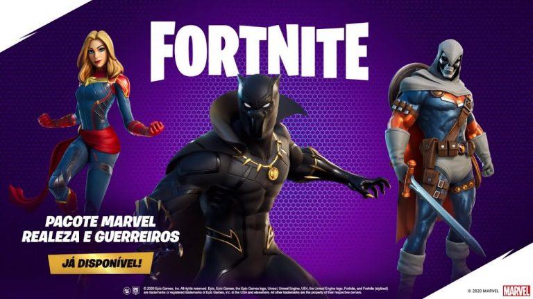 Fortnite – Pacote Marvel: Realeza e Guerreiros